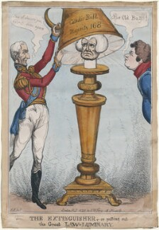 The Extinguisher, or putting out the Great Law-Luminary, by Thomas Howell Jones, published by  Samuel William Fores - NPG D48754
