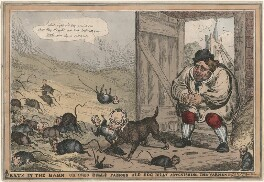 Rats in the Barn, or John Bulls Famous Old Dog Billy Astonishing the Varment, by William Heath, published by  Thomas McLean - NPG D48765