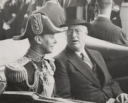 King George VI; Franklin D. Roosevelt, by Unknown photographer - NPG x198376