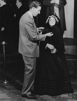 Bernard Tussaud with a wax model of Madame Marie Tussaud, by Unknown photographer - NPG x198394