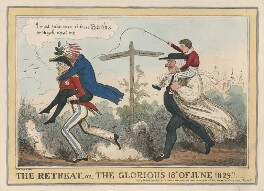 The Retreat, or, the Glorious 18th of June 1829!, by (Isaac) Robert Cruikshank, published by  Gabriel Shire Tregear - NPG D48775