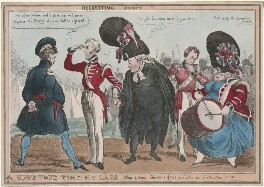 Recruiting Party, by William Heath, published by  Thomas McLean - NPG D48780