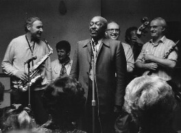 Bruce Turner; Bill Coleman; John Chilton; Wally Falkes and two unknown band members, by Harry Diamond - NPG x210185