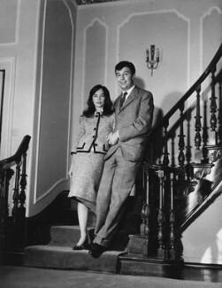 Leslie Caron; Sir Peter Hall, by Tom Blau - NPG x198421