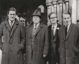'The Private Eye men against whom an injunction was granted' (Richard Ingrams; Willie Rushton; Christopher John Penrice Booker; Nicholas Lamert Luard), by Unknown photographer - NPG x198432