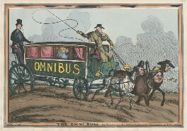 'The Omni-buss' (Sir Robert Peel, 2nd Bt; Elizabeth Conyngham (née Denison), Marchioness Conyngham; King George IV; Arthur Wellesley, 1st Duke of Wellington; John Bull), by William Heath, published by  Thomas McLean - NPG D48791