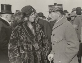 Edith Helen (née Chaplin), Marchioness of Londonderry and Maxime Weygand after the opening of The Ulster Tower at Thiepval, by Unknown photographer - NPG x198445