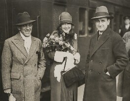 Nelson Waite Keys; Dorothy Gish; Herbert Wilcox, by Unknown photographer - NPG x198465