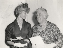 Virginia McKenna and Dame Margaret Rutherford at the Women of the Year Luncheon, by Unknown photographer - NPG x198467