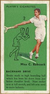 Carolin Babcock Stark, issued by John Player & Sons - NPG D47329