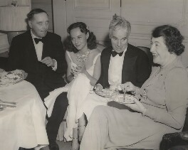 H.G. Wells; Paulette Goddard; Charlie Chaplin; Constance Collier, by Unknown photographer - NPG x198473