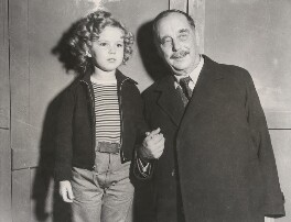 Shirley Temple; H.G. Wells, by Unknown photographer - NPG x198475
