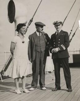 Ishbel MacDonald; Ramsay MacDonald; Sir Arthur Henry Rostron, by Unknown photographer - NPG x198499