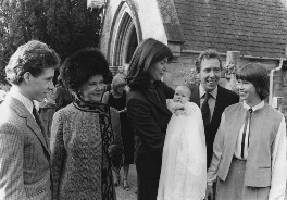 The christening of Lady Frances von Hofmannsthal (née Armstrong-Jones), by Unknown photographer - NPG x198530