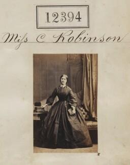 Miss C. Robinson, by Camille Silvy - NPG Ax62043