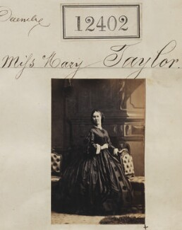 Miss Mary Taylor, by Camille Silvy - NPG Ax62051