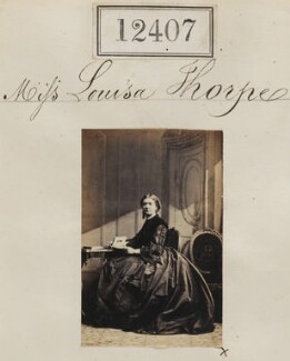 Miss Louisa Thorpe, by Camille Silvy - NPG Ax62056