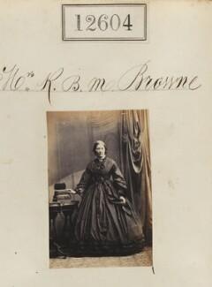 Mrs R.B.M. Browne, by Camille Silvy - NPG Ax62249