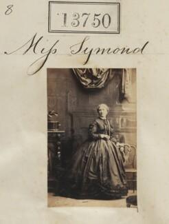 Miss Symond, by Camille Silvy - NPG Ax63381