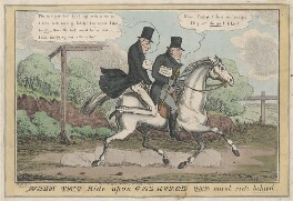 When two ride upon one horse one must ride behind, by Henry Heath, published by  Samuel William Fores - NPG D48822