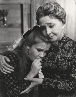 Hayley Mills as Hedvig Ekdal and Dulcie Gray as Gina Ekdal in Henrik Ibsen's 'The Wild Duck', by Angus McBean - NPG x198542