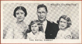 'The Royal Family' (Queen Elizabeth, the Queen Mother; Princess Margaret; King George VI; Queen Elizabeth II), issued by W.D. & H.O. Wills, after  Marcus Adams - NPG D47266