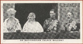'On Buckingham Palace Balcony' (Queen Mary; Queen Elizabeth, the Queen Mother; King George VI; King George V), issued by W.D. & H.O. Wills, after  Unknown photographer - NPG D47278