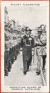 'Inspecting Guard of Honour, Auckland' (King George VI; 15 Unknown sitters), issued by W.D. & H.O. Wills, after  Unknown photographer - NPG D47292