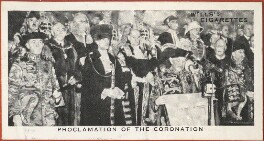 'Proclamation of the Coronation' (Sir Arthur William Steuart Cochrane; 22 Unknown sitters), issued by W.D. & H.O. Wills, after  Unknown photographer - NPG D47312