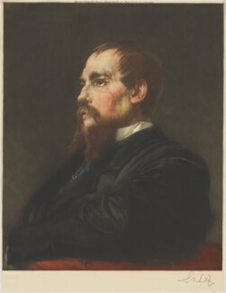 Sir Richard Francis Burton, by Sidney M. Litten, published by  Museum Galleries, after  Frederic Leighton, Baron Leighton - NPG D49368