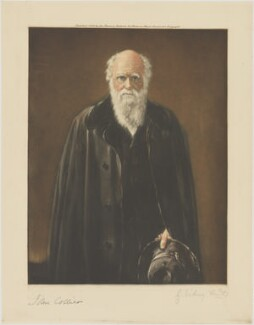 Charles Darwin, by George Sidney Hunt, published by  Museum Galleries, after  John Collier - NPG D49370