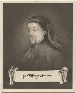 Geoffrey Chaucer, issued by Sarony & Co, after  Unknown artist - NPG D48942