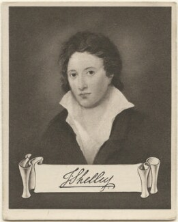 Percy Bysshe Shelley, issued by Sarony & Co, after  Amelia Curran - NPG D48943