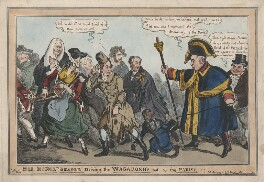 His Honor the Beadle Driving the Wagabonds out of the Parish!!!, by William Heath, published by  Thomas McLean - NPG D48840