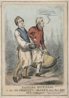 Partial Distress, Or the Old Cabinet-Maker and his Man Bob Out of Employment., possibly by John Phillips, published by  Samuel Knight (Knights) - NPG D48841