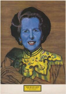 Margaret Thatcher ('The Blue Lady'), after Roger Birchall - NPG D49371