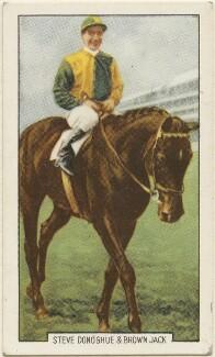 Steve Donoghue and Brown Jack, issued by Gallaher Ltd - NPG D48986
