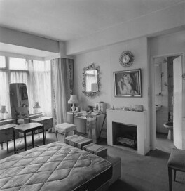 Interior of Dorothy Wilding's last studio and home - bedroom, by John Adriaan - NPG x200892