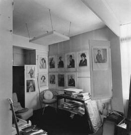 Interior of Dorothy Wilding's last studio and home (office), by John Adriaan - NPG x200897