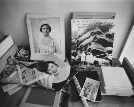 Desk still life from Dorothy Wilding's last studio and home, by John Adriaan - NPG x200899