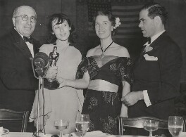 Louis Burt Mayer, Luise Rainer, Louise Ten Broeck Tracy (née Treadwell) and Frank Russell Capra (Francesco Rosario Capra) at the 10th Academy Awards, by Unknown photographer - NPG x198583