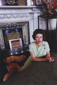 Queen Elizabeth II, by David Montgomery - NPG x201261