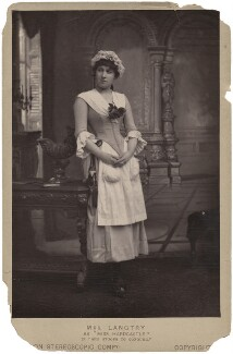 Lillie Langtry as Miss Hardcastle in 'She Stoops to Conquer', by London Stereoscopic & Photographic Company - NPG x196025