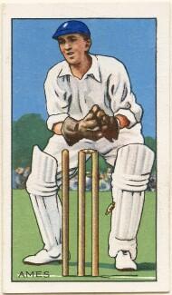 Leslie Ethelbert George ('Les') Ames, issued by Gallaher Ltd - NPG D48994