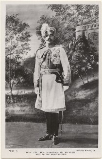 Ganga Singh, Maharaja of Bikaner, by Carl Vandyk, published by  Rotary Photographic Co Ltd - NPG x196054
