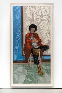 'Sadie' (Zadie Smith), by Toyin Ojih Odutola - NPG 7105
