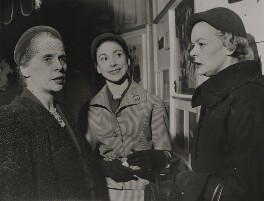 'Sadlers Wells Ballet in Italy' (Ninette de Valois; Margot Fonteyn; Pamela May), by Unknown photographer - NPG x196076