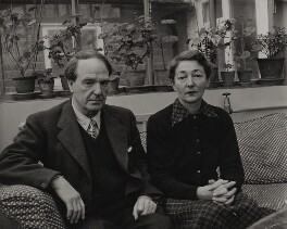Henry Moore; Irina Anatolia Moore (née Radetzki), by Jitendra Arya - NPG x196094
