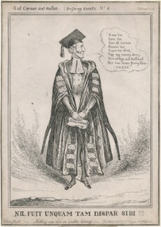 Arthur Wellesley, 1st Duke of Wellington ('Nil Fuit Unquam Tam Dispar Sibi!!!'), by William Heath, published by  Gabriel Shire Tregear - NPG D48863
