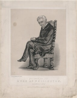 Arthur Wellesley, 1st Duke of Wellington, by Louise Corbaux, printed and published by  Stannard & Dixon - NPG D48864